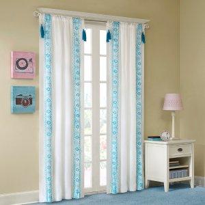 Mi Zone Shana Embroidered Tassel Window Curtain