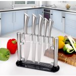 Lightning deal! Utopia Kitchen Stainless Steel 6 Piece Knives Set (5 Knives plus and Acrylic Stand)