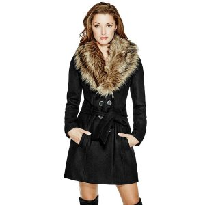 Alina Double-Breasted Coat | GuessFactory.com