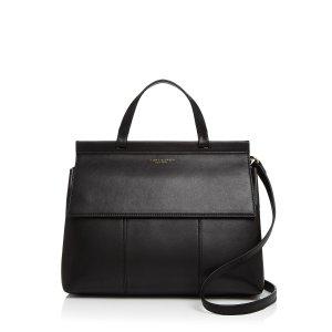 Tory Burch Block-T Leather Satchel | Bloomingdale's