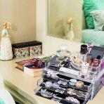 $13.99(原价$34.99) 史低 AcryliCase透明豪华化妆品收纳盒