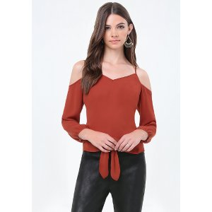 Cold Shoulder Tie Top - All New Arrivals | bebe