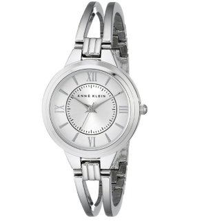 Anne Klein Women's AK/1441SVSV Silver-Tone Bangle Watch