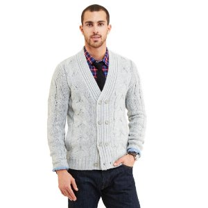 Double Breasted Cable Knit Cardigan