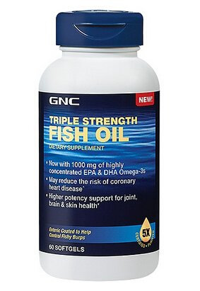 2 for $14.98 GNC Triple Strength Fish Oil 60 softgels