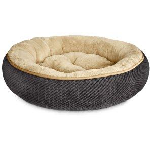 Petco Textured Round Cat Bed in Grey, 20