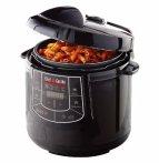 $69 Chef Di Cucina - 6.3-Quart Pressure Cooker - Black gloss