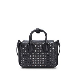 X-Mini Milla Crystal Ball Tote in Ruby Red by MCM