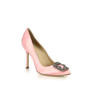 Hangisi 105 Satin Pumps by Manolo Blahnik