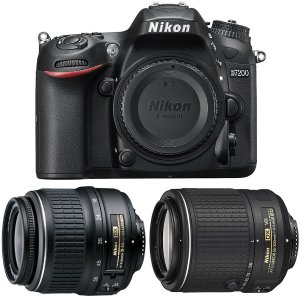 $799.00 Nikon D7200 DSLR w/ 18-55mm Zoom + 55-200mm NIKKOR Lens Refurbished