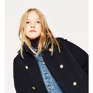 DOUBLE BREASTED CAPE - COATS-GIRL | 4-14 years-KIDS-SALE | ZARA United States
