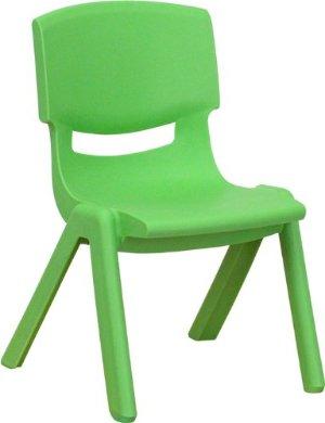 Flash Furniture Green Plastic Stackable School Chair
