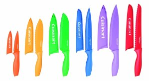 $15.99 Cuisinart Advantage 12-Piece Knife Set, Bright (6 knives and 6 knife covers)