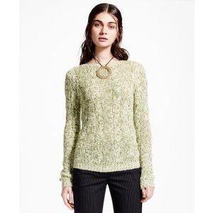 Silk-Cashmere Crewneck Sweater - Brooks Brothers
