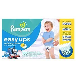 $13.89 Pampers Boys Easy Ups Training Underwear, 2T-3T (Size 4), 100 Count