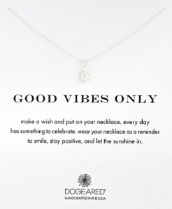 Dogeared Good Vibes Only Sun Pendant Necklace, 16