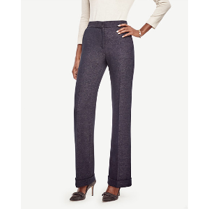 Tweed High Waist Flare Pants | Ann Taylor