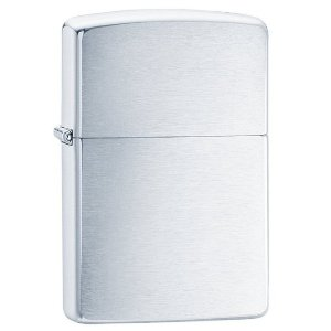 $7.02 Zippo Chrome Lighters, Brushed Chrome