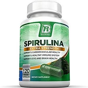 Lighning Deal BRI Nutrition Spirulina - 2000mg Maximum Strength Supplement
