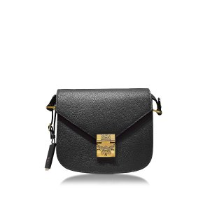 MCM Patricia Park Avenue Black Leather Small Shoulder Bag at FORZIERI