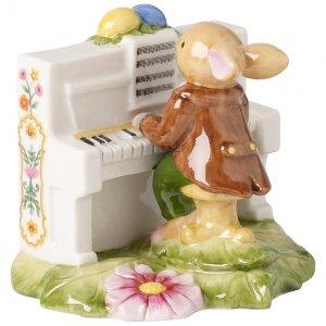 Bunny Family Bunny : Boy Pianist 3.5x1.25in - Villeroy & Boch
