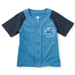 Shibori Baseball Tee | Tea Collection