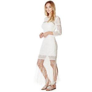 Clark Three-Quarter Sleeve Lace Dress