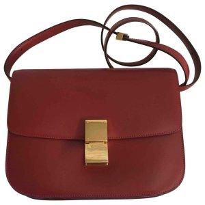 (2) red Plain Leather CÉLINE Handbag - Vestiaire Collective