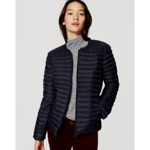 Pintucked Puffer Jacket