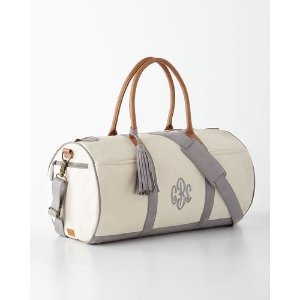 Personalized Luggage Tags & Rolling Duffel at Neiman Marcus Horchow