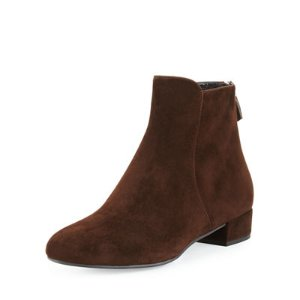 Prada Suede Back-Zip Ankle Boot