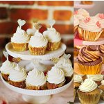 Eoonfirst Gold Foil Metallic Cupcake Case Liners Baking Muffin Paper Cases 176 Pcs