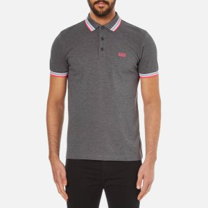 BOSS Green Men's Paddy Short Sleeve Polo Shirt - Grey - Free UK Delivery over £50