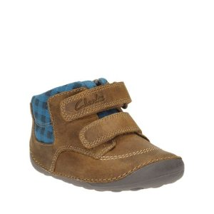 Tiny Jay Baby Tan Leather - Boys Pre-walker & Baby Shoes - Clarks® Shoes Official Site