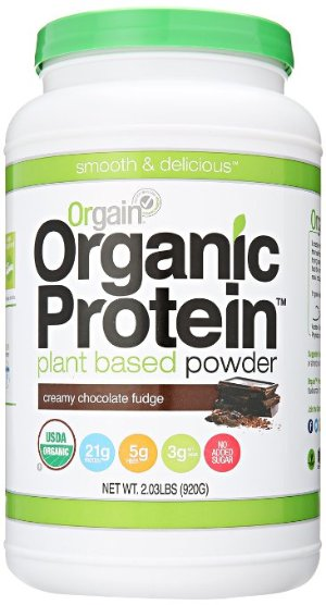 $14.44 Orgain Organic Plant Based Protein Powder, Creamy Chocolate Fudge, 2.03 Pound