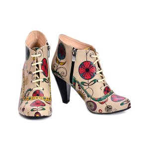 Goby Cream Floral Wheel Bootie - Women | zulily