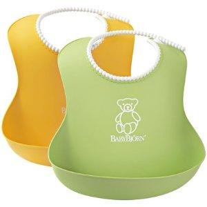 BabyBjorn Soft Bib - Green/Yellow - 2 ct - Free Shipping