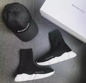 $545BALENCIAGA Speed Low-Sock Stretch-Knit Sneakers @ Spring