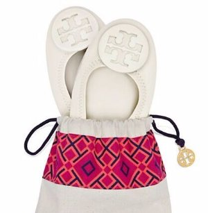 Minnie Travel Ballet Flat  @ Tory Burch