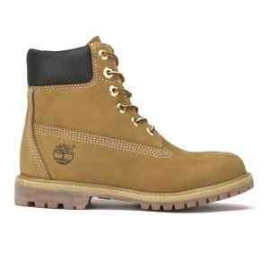 Timberland Women's 6 Inch Premium Leather Boots - Wheat - FREE UK Delivery