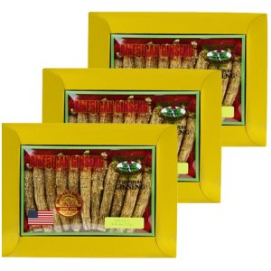 Long American Ginseng Extra Large 4oz x 3