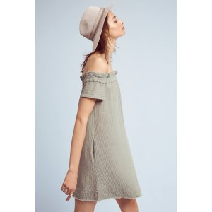 Maella Off-The-Shoulder Tunic Dress | Anthropologie