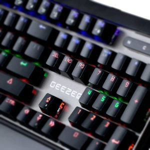 $35.99 GEEZER Blacklit Mechanical Gaming Keyboard with Blue Switches