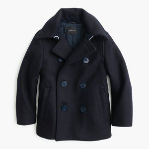 Boys' Wool Peacoat With Thinsulate : Boys' Outerwear   J.Crew