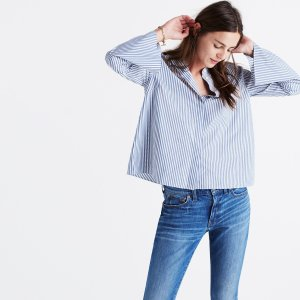 Bell-Sleeve Shirt in Stripe : AllProducts | Madewell