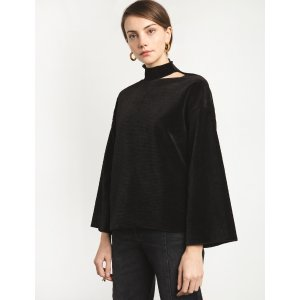 Cut Out Mock Neck Top