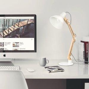 Tomons Wood Swing Arm Desk Lamp