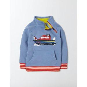 Raglan Zip Pop-over 23032 Sweatshirts & Fleeces at Boden