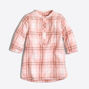 Girls' flannel tunic : shirts | J.Crew Factory