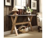 SIGNAL HILLS Aberdeen Industrial Zinc Top Weathered Oak Trestle TV Stand - 16985922 - Overstock.com Shopping - Great Deals on Signal Hills Coffee, Sofa & End Tables
